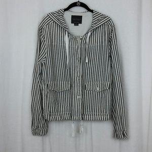 Sanctuary 100% Linen Nova Striped Jacket sz Medium